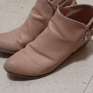 Espirit Talia Ankle Perforated Zip Up Boots